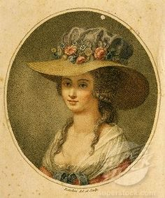 Love this 18th Century hat, I could just see strolling in the garden with this hat...