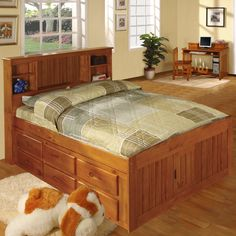American Furniture Classics Model Solid Pine Bookcase Headboard Full Captains Bed with 12 Underbed Drawers in Honey, Brown Bedroom Furniture Stores, Home Office Furniture, Bed Furniture, Cheap Furniture, Furniture Deals, Furniture Market, Furniture Outlet, Online Furniture, Kitchen Furniture