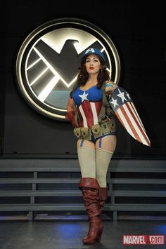 Female Captain America, halloween or or bedroom it doesn't matter to me, either way that's where it's going to end.