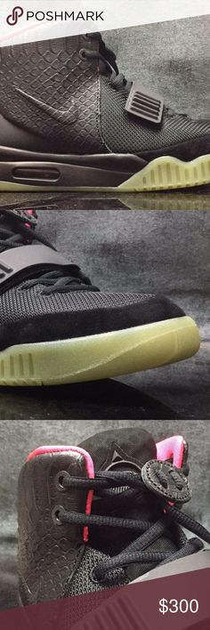 Nike Air Yeezy 2 NRG  Black Solar Red UA! NEW WITH BOX! 9~12 SHIPPING DAYS Nike Shoes Sneakers