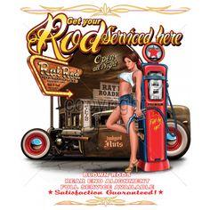 Rat Rod Roadhouse Car T Shirt Mens T Shirt 15737