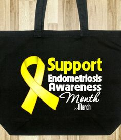 Endometriosis Awareness Month Support Tote Bag #endometriosis #endometriosisawareness #endometriosisawarenessmonth