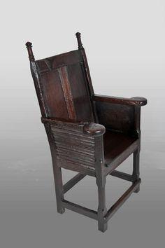 TUDOR: Rare plain panelled Tudor armchair, circa 1480 - 1500, Marhamchurch antiques