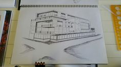 Perspective drawing of a building in Cape Town, South Africa.