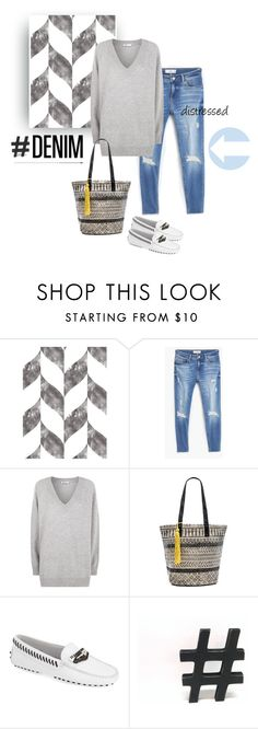 """""""Distressed Denim NYFW"""" by bjigg ❤ liked on Polyvore featuring Swag Paper, MANGO, T By Alexander Wang, ále by Alessandra, Tod's, women's clothing, women, female, woman and misses"""