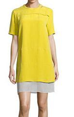 Vestido amarillo de seda, de Joseph