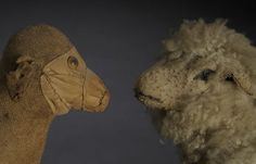 Two toy lambs