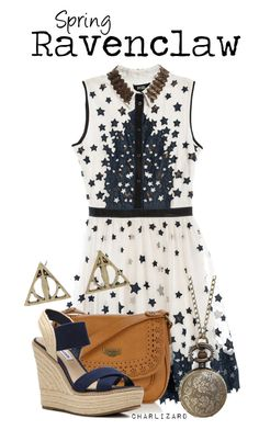 """""""Ravenclaw"""" by charlizard ❤ liked on Polyvore featuring moda, Mantaray y Steve Madden"""
