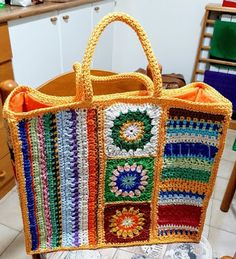 Crochet Cardigan, Straw Bag, Diy And Crafts, Blanket, Knitting, Bag Tutorials, Knit Crochet, Crochet Tote, Crochet Purses