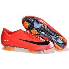 http://www.asneakers4u.com The New Cheap Nike Mercurial Vapor Superfly II FG Mens Soccer Cleats In Red Blackout of stock