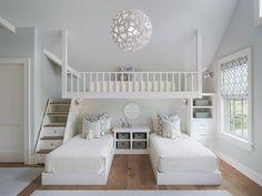 kleine wohnung einrichten mit hochbett_kinderzimmer für drei kinder kreativ einrichten mit hochbett