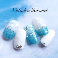 ネイル 画像 ネイルサロン ヒメル Nailsalon  Himmel 渋谷 968530 ブルー 夏 ソフトジェル ハンド