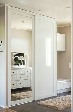 Sliding Door Wardrobe Design Built Ins Best Ideas Best Picture For coat closet doors For Your Taste You are looking for something, and it is going to tell you exactly what you are lo Bedroom Closet Doors, Mirror Closet Doors, Wardrobe Room, Wardrobe Design Bedroom, Bedroom Cupboards, Room Decor Bedroom, Cabinet Closet, Bedroom Ideas, Sliding Door Wardrobe Designs