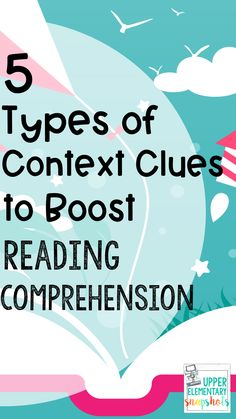 Do your - grade students need some extra context clues help? Teaching upper elementary students these 5 types of Context Clues (LEADS), will help boost reading comprehension and will help them find the meaning of new or unfamiliar words. Comprehension Strategies, Reading Strategies, Reading Skills, Reading Comprehension, Vocabulary Strategies, Reading Goals, Vocabulary Games, Reading Centers, Middle School Reading