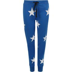 Leanna Star Jogging Bottoms ($22) ❤ liked on Polyvore featuring activewear, activewear pants, pants and royal blue
