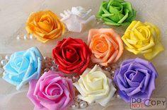 Foam roses heads for making kissing balls pormander