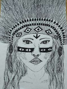 Indian woman sketch