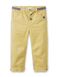 Pantalon twill couleur