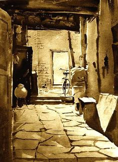 Watercolour Paintings by Milind Mulick by India Artist, via Behance