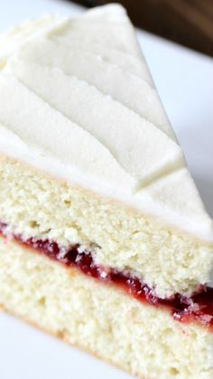 Delicious Homemade Lemon Cake with Raspberry Filling ~ It's Amazing!