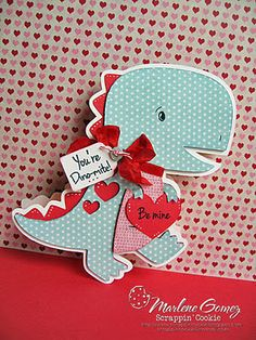 This little dinosaur shaped card is so adorable!!