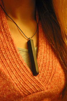 upcycled ebony piano key, reclaimed pendant necklace by timsway on Etsy https://www.etsy.com/listing/69109642/upcycled-ebony-piano-key-reclaimed