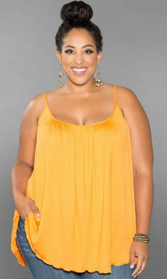 Your essential plus size camisole with tummy-concealing style! Shirred, flowing fabric conceals your tummy. Belt it to add some shape at your waist… And layer it with every cardigan you have! Perfect to wear with our Open Cardigan.