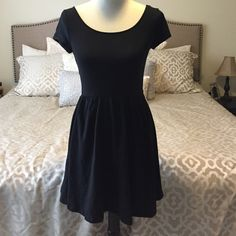 Black Dress Only worn once! In good used condition: no rips, tears, or stains. No Trades. No Reserves. No PayPal. All items ship from a smoke free home. I will negotiate price only via the offer link but will not do so in the comments below my listing. Mossimo Supply Co Dresses Mini