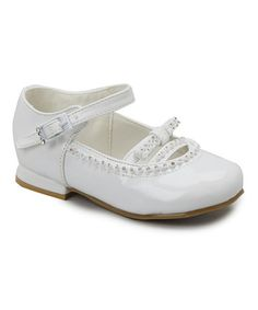 White Patent Embellished Mary Jane #zulily #zulilyfinds