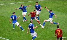 Andres Iniesta, Christian Maggio, Claudio Marchisio, Leonardo Bonucci, Giorgio Chiellini, Thiago Motta
