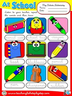 At School - Picture Dictionary