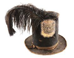 Circa 1820's Militiaman Stovepipe Hat with Badge.