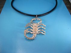 Jewelry/ Necklaces /Unisex/ Vintage Sterling Pendant / Astrological 3-D Scorpion…