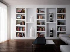 New Ideas Living Room Modern Style Shelves Living Room Modern, Home Living Room, Living Room Decor, Bookshelves Built In, Bookshelf Design, Bookcase, Book Shelves, Salas Home Theater, Home Interior