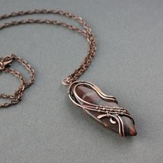 Copper pendant with jasper by wirefoxjewellery, via Flickr