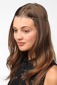 d9732b99434a Vanessa Mooney Goddess Spike Headband Chain Headband
