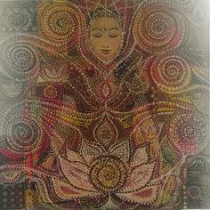 Padmasana consciousness, acrylic on canvas, 80x80cm, available, unframed