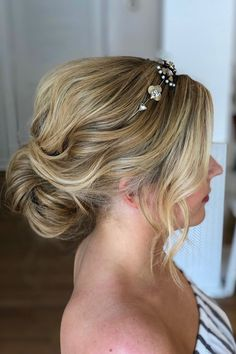 wedding updo with textured waves | hairstyle by goldplaited