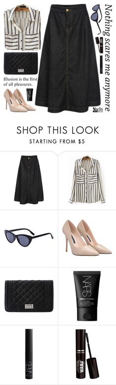 """SheIn 6"" by scarlett-morwenna ❤ liked on Polyvore featuring NARS Cosmetics, vintage, women's clothing, women, female, woman, misses and juniors"