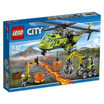 LEGO City - Volcano Supply Helicopter and thousands more of the very best toys at Fat Brain Toys. Transport heavy equipment and haul out samples with the Volcano Supply Helicopter, with excavator and boulder opener tool. Lego City Sets, Lego Sets, Lego Creator, Legos, Lego Junior, St Gallen, Exploration, Building Blocks Toys, Buy Lego