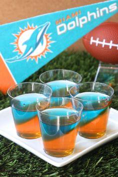 Miami Dolphins Jell-O Shots  - Delish.com