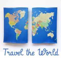 Travel the World  And don't forget to carry your passport with a fun designed cover ✈️