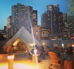 Rooftop urban camping - Teepees in the City - by Shelter Co