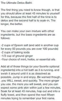 Ultimate detox bath- Could pre-make for a easy and thoughtful Christmas gift?? Definitely will need to include instructions.