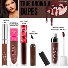↞  lizannecabrera ↠ Kylie lip kit dupes