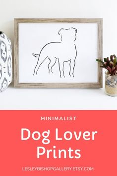 Looking for a gift for your dog obsessed friend? Or perhaps you are just wanting to celebrate your favourite pooch! Look no further than this minimalist art print. It's a great addition to your modern decor. Check out our shop for more options. Gifts For Dog Owners, Gifts For Pet Lovers, Dog Lovers, Best Dog Gifts, Dog Mom Gifts, Dachshund Art, Dachshund Gifts, Staffordshire Bull Terrier, Bull Terriers