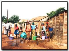 Photo of Zambian Women fetching water