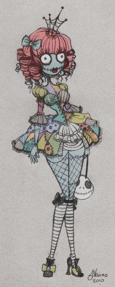 lolita sally wip sketch by noflutter on deviantart nightmare before christmas fan art would make a fun tattoo