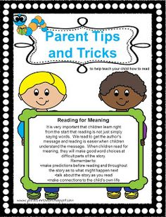 Classroom Freebies Too: Parent Tips and Trick Newsletter #5