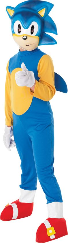 Child licensed sonic the hedgehog party outfit new fancy dress costume